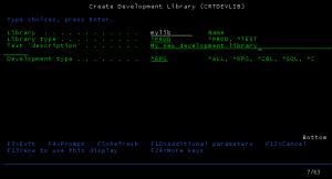 Create Development Library - CrtDevLib