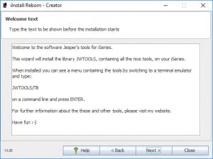 iInstall Reborn Creator - Edit the Welcome text.