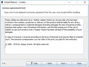 iInstall Reborn Creator - Edit License agreement text.