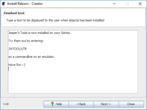 iInstall Reborn Creator - Edit finished text.