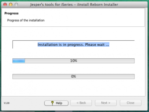 iInstall Reborn - Description: Installation in progress