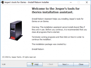 iInstall Reborn Installer. Opening screen, registered copy.