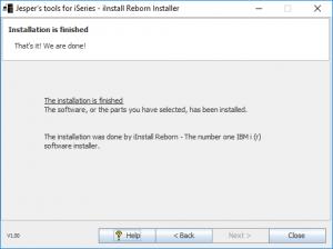 iInstall Reborn Installer. Installation is finihed.