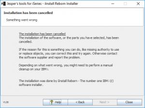 iInstall Reborn Installer. Installation has failed.