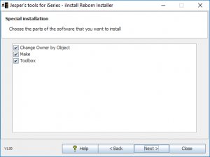 iInstall Reborn Installer. Select what to install.