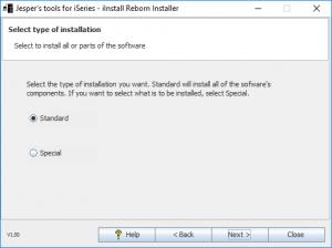 iInstall Reborn Creator. Select installation type.
