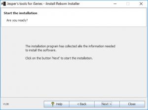 iInstall Reborn Installer. Ready to install.