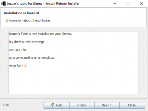iInstall Reborn Installer. Finished text.