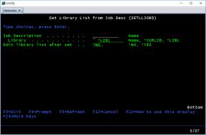 Set Library List to Job Description