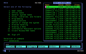 Wachs Commander - an IBM i utility